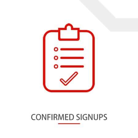 Confirmed Signups